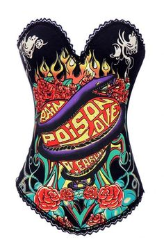 Rock n Roll Corset, this one's Poison, comes in 6 designs  under 20.  Def Planet