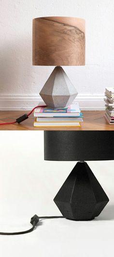 Diamond lamp Lampshades, Bird Houses, Concrete, Furniture Design, Table Lamp, Chandelier, Lights, Townhouse, Diamond