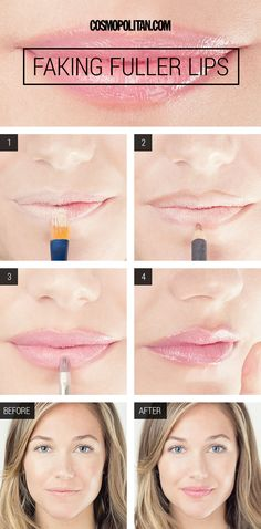 How To Fake Larger Lips - How To Get Larger Lips With Makeup - Cosmopolitan