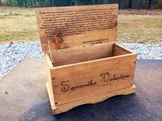 Large Kids Toy Chest  Wooden Chest  Keepsake by CountryBarnBabe, $250.00