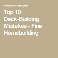 Avoid these common deck-building problems by implementing these simple solutions. Learn more about build a longer-lasting, safer deck. Deck Railings, Roof Deck, Beach House Deck, Building A Deck, Building Ideas, Deck Posts, Home Fix, Back Deck, Diy Deck