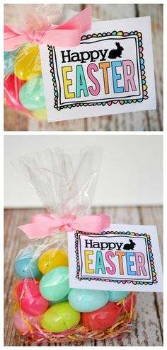 Peeps easter gift idea with free printables free printable gift free printable happy easter tags easter gift ideas negle Gallery
