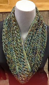 Woods and Water infinity scarf pattern by Roxanne Yelle-free knitting pattern to download @ Ravelry