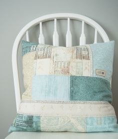 Auction #7 - Patchwork CushionCover - Pretty by Hand -