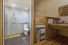 Asuntomessut 2014 Jyväskylässä Ainoakoti HauHaus. www.k-rauta.fi Interior, Bathroom, Alcove Bathtub, Alcove