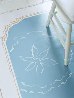 Painted vinyl floors on pinterest painted floors for Latex primer for vinyl flooring