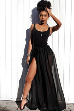 "ecstasymodels: ""Sundays Are For BlackDress by Fashion Nova , Heels by Lasulaboutique Fashion Look by Jourdan Riane """
