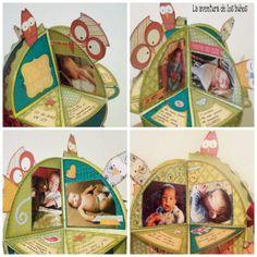 La aventura de los buhos: Tutorial: mini álbum redondo -El árbol de los búhos-