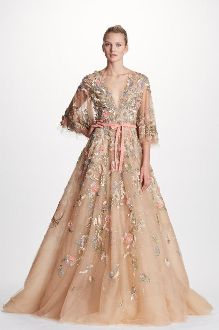 4d8155faa0 Marchesa Couture Plunging V Neck Fully Beaded Tulle Ball Gown. District 5  Boutique