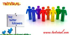 Buy Twitter followers from Twtviral and increase your business prospects in a big way. http://www.twtviral.com/
