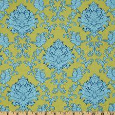 Bohemian Festival Damask Blue, for Riley Blake Designs