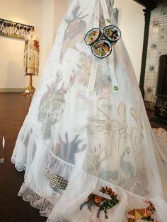 wedding dress  playful hunting grounds  Alexandra Drenth - Textile artist in Amsterdam -Netherlands