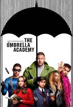 The Umbrella Academy – Poster On starts with The Umbrella Academy a crazy and gritty superhero series on Netflix. This is based on the graphic novel by My Chemical Romance singer Gerard Way. Tom Hopper, Ellen Page, Robert Sheehan, Gerard Way, My Chemical Romance, Luther, John Krasinski, Ray Donovan, Shows On Netflix