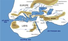 Ancient Greek map of the world