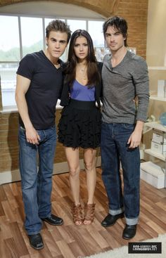 Paul Wesley, Nina Dobrev, and Ian Somerhalder.