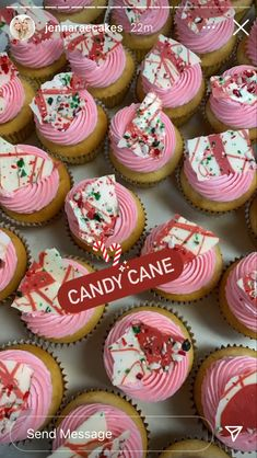 Candy Cane, Cupcakes, Sweets, Desserts, Food, Tailgate Desserts, Cupcake Cakes, Deserts, Barley Sugar