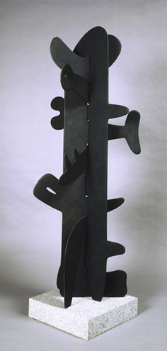 "Bronze, 55 x 22 x 20"", made in 1987 from a slate prototype executed in 1945. Noguchi"