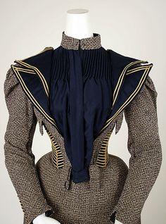 Dress, Walking Date: ca. 1893 Culture: American Medium: wool, silk