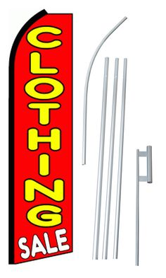 Funnel Cakes Welcome King Swooper Feather Flag Sign Kit with Pole and Ground Spike Pack of 3 Bakery