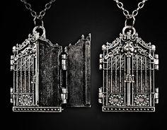 MYSTERY DOORS Locket pendant, gothic necklace, Iron Gate, gothic lolita. zł64.00, via Etsy.
