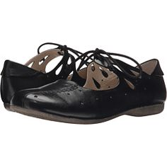 d9b44d9afd75bd Josef Seibel Fiona 09 (Black) Women s Flat Shoes