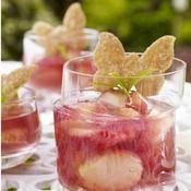 Pêches et gelée de framboise - une recette Fruit - Cuisine