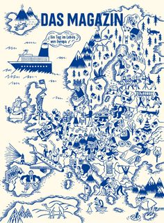 One day in the life of #Europe , fun #map by Golden Consmos for Das Magazin