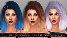 Simpliciaty: Stealthic Heaventide hair retextured - Sims 4 Hairs - http://sims4hairs.com/simpliciaty-stealthic-heaventide-hair-retextured/