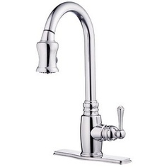 Danze Opulence Pullout Spray Deck Mount Kitchen Sink Faucet D454557 Chrome
