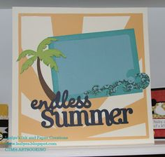 If only Summer wouldn't end!  CTMH ArtBooking New Cricut Cartridge!