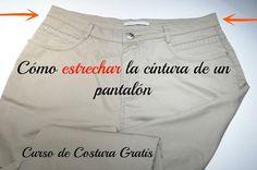 Curso de Costura Gratis: Cómo estrechar la cintura de un pantalón | Manualidades