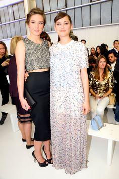 Marion Cotillard and Adele Exarchopoulos in Dior   - HarpersBAZAAR.com
