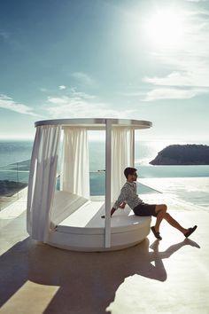 Canopy double round garden bed VELA | Canopy garden bed - @vondom