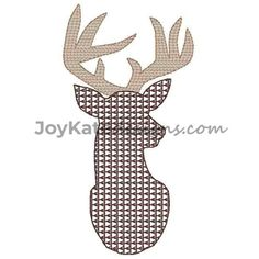 Embroidery Online, Applique Embroidery Designs, Vintage Embroidery, Lazy Daisy Stitch, Deer Silhouette, Retro Pattern, Feather Print, Retro Vintage, Diy Crafts