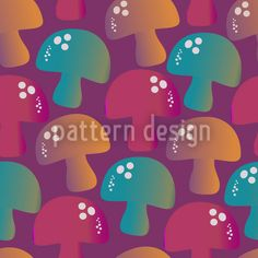 We Are The Champignons Repeat Vector Pattern, Vector File, New Years Eve, Surface Design, Stuffed Mushrooms, Delicate, Patterns, Create, Inspiration