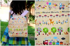 Toddler backpack pattern by Made by Rea