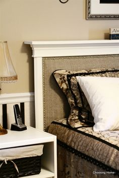 Choosing Home: DIY headboard
