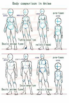 Manga Drawing Ideas Anime body style comparison by ~Yumezaka on deviantART -