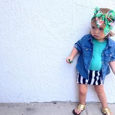 Vibrant floral headwrap-- crafted bows. Kids fashion. Shop small. Small business. Online boutique. Headscarf. Baby fashion. Baby style. Baby fashion. Headbands. Shop handmade. Handmade fashions