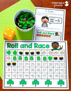 Practical activities on St. Patrick& Day for the nursery school, Hands On Learning Kindergarten, Kindergarten Centers, Math Centers, Math Stations, St Patrick Day Activities, Counting Activities, Hands On Activities, Bridges Math, Early Finishers Activities