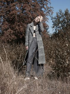 """""""Now That I Know"""" - Teeth Online x Teeth Magazine Photography: Niklas Hoejlund Styling: Denis Bjerregaard at Agentur Hair: Kirstine Engell at Scoop Artists Makeup: Liv Worm Jensen at Agentur Model: Hannah Ströbek at Le Management Coat: Gina Tricot, Bra: Weekday, Trousers: Fonnesbech, Shoes: Zara"""