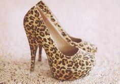 leopard heels. ♡