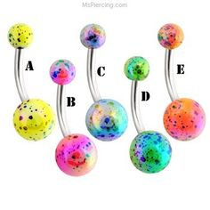 Aurora Splat Navel Ring #mspiercing #piercings