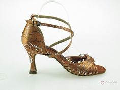 Natural Spin Designer Salsa Shoes/Tango Shoes/Fashion Shoes(Open Toe):  D1106-05