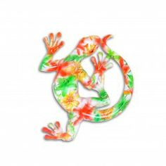 Decorative Flower Design Lizard Ornament In Resin Can Be Wall Mounted Garden Ornaments & Accessories #gardening #nature www.gardens2you.co.uk