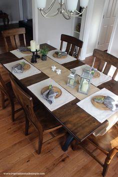 #ad DIY Rustic Dining Tablescape