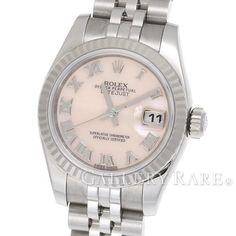ロレックス レディデイトジャスト K18WGホワイトゴールド ピンクシェル ランダム 179174NR ROLEX 腕時計 レディース