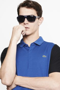 #Lacoste short sleeve pique #color sleeves polo