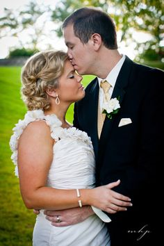 Sweet kiss. Wedding at Oneida Country Club in Green Bay, Wisconsin   http://markhawkinsphoto.com