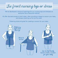 Navy Spot Tie Front Breastfeeding Top, Breastfeeding Tops and Dresses, Maternity